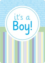 Circle and Stripes Baby Shower Invite