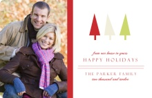 Whimsical Trees Holiday Photo Card