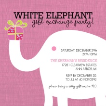 White Elephant Holiday Party Invitation