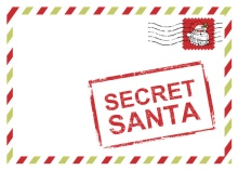 Top Secret Santa Red Holiday Party Invitation