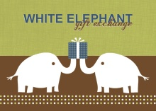 White Elephant Gift Exchange Holiday Party Invitation