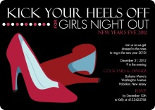 Red Heels Girls Night New Years Invite