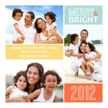 Colorful Photo Collage Christmas Card