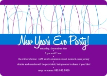 Purple and Blue New Years Invite