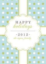 Happy Holidays Gift Wrap Holiday Greeting Card