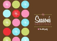 Retro Dots Season's Greetings Holiday Card