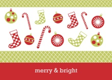 Stockings and Candy Canes Holiday Card