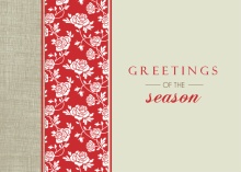 Red Roses and Linen  Holiday Card