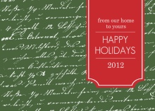 Green Handwritten Note Holiday Card