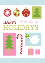 Colorful Holiday Collage Holiday Card
