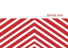 Red Chevrons  Thank You Cards