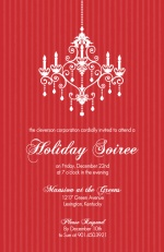 Red Elegant Holiday Party Invitation