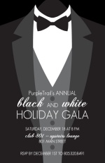Black Tie Corporate Holiday Party Invites
