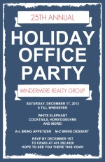 Frosted Business Holiday Party Invitation