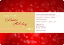 Shimmering Business Holiday Party Invites