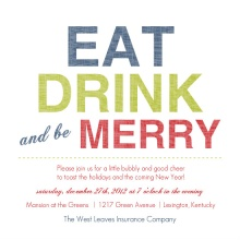 Be Merry Business Holiday Party Invites
