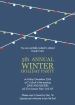 Holiday Lights Corporate Party Invitation