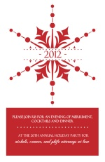 Red Snowflakes Holiday Business Party Invites