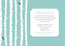 Birch Trees Business Holiday Party Invitation