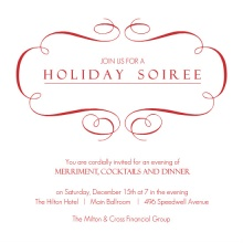 Business Soiree Holiday Party Invitation