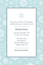 Snowflakes Business Holiday Party Invite