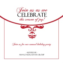 Elegant Corporate Holiday Party Invites
