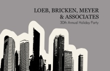 City Skyline Business Holiday Party Invite