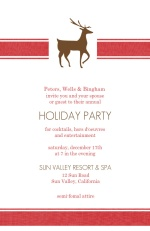 Reindeer Business Holiday Party Invitation