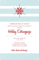 Light Blue Business Holiday Party Invites