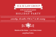 Traditional Red Business Holiday Party Invites