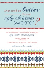 Xmas Sweater Business Holiday Party Invites