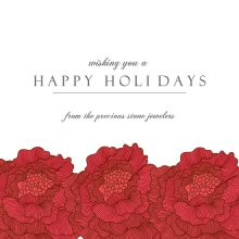Red Flowers Business Holiday Greeting Card