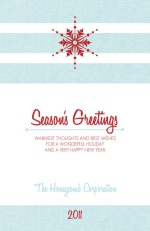 Simple Snowflake Business Holiday Card