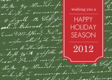 Handwritten Note Business Holiday Card