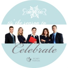 Elegant Winter Wonderland  Business Holiday Card
