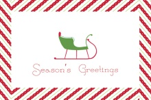 Vintage Sleigh Business Holiday Card