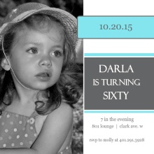 Modern Squares 60th Birthday Invitation