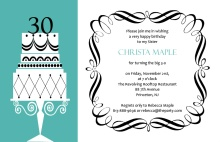 Fancy Cake Thirtieth Birthday Invitation