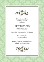 Simple Elegant Flower 50th Birthday Invitation