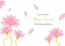 Garden of Flowers 50th Birthday Invitation