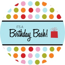 Circles Birthday Bash Party Invite