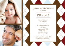 Two Photo Sixtieth Birthday Invitation