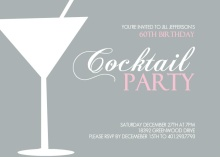 Cocktail Party 60th Birthday Invitation