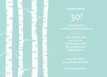 Birch Trees Winter Birthday Party Invite