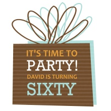 Brown Present Birthday Party Invite