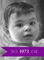 Purple Banner Photo Birthday Invitation