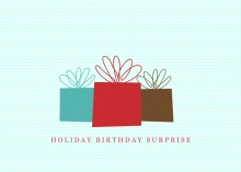 Holiday Presents Birthday Invitation