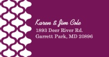 Purple and White Pattern Address Label