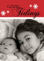 Sweet Tidings Accordion Christmas Photo Card