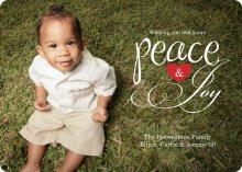 Peace & Joy Heart Christmas Photo Card